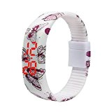 Koly Numérique Silicone Ultra Thin Men Fille Sport LED Montre bracelet