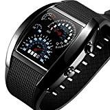 LED tableau de bord Boolavard ® TM montre flash mètre d'air militaire aéroportée nouvelle marque de voiture de sport Indicateur ...