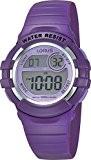 Lorus - R2385HX9 - Montre Fille - Quartz Digital - Chronomètre/Eclairage - Bracelet Caoutchouc Violet