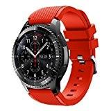 Malloom Des sports Silicone Bracelet Bandoulière pour Samsung Gear S3 Frontier