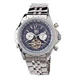 MG. ORKINA hommes Montre chronographe en acier inoxydable de haute qualité de poignet montre cadran bleu avec calendrier
