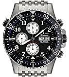 Montre Chronographe Automatique Xezo Air Commando Homme, Plongée, Pilotage, Mouvement Suisse Valjoux 7750, étanchéité 30 ATM. Jour, Date