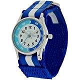 Montre Pédagogique Reflex pour Enfant Bleue et Blanche avec Bracelet Velcro