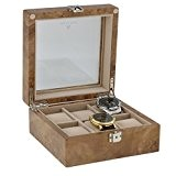 Montre Poignet Collectionneurs Boîte pour 6montres en clair en bois par aevitas