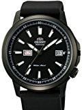 Orient 42mm Noir PVD Sting Ray Jour et Date Montre Automatique avec cadran noir em7K003b