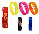 Panegy - Nouveau Montre-Bracelet LED Digitale Imperméable - Montre Poignet Numérique Electronique Rubber Date Etanche 29M Silicone Sport Fitness pour ...
