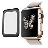 Protecteur d'Ecran en Verre Trempé de 0,2 mm pour Montre Apple Watch 42mm,Noir