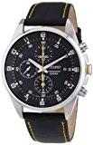 Seiko - SNDC89P2 - Montre Homme - Quartz Chronographe - Bracelet en cuir Noir