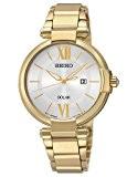 Seiko - SUT158P1 - Solar - Montre Femme - Automatique Analogique - Cadran Gris - Bracelet Acier Doré