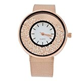 Souarts Femme Montre à Quartz Strass Mouvants Couleur Rose d'or 22cm 1PC