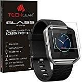TECHGEAR® Fitbit Blaze VERRE Édition Original Protecteur d'Écran en Verre Trempé pour Montre de Remise en Forme Fitbit Blaze Smart