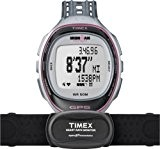 Timex - T5K630 - Ironman Run Trainer - Montre GPS Femme - Bracelet Résine - Alarme/Boussole/Chronomètre - Moniteur de fréquence ...
