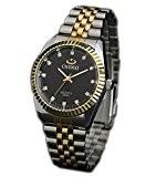 ufengke® brille strass or belle bande d'acier montre à bracelet de quartz étanche de luxe pour les hommes