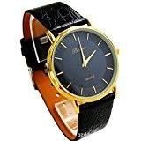 ufengke® lanière de noir cadran noir or lunette montre à bracelet pour les hommes