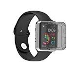 Ularma Ultra-Slim Plaquent Mous Cas Couverture Pour Apple Watch Série 2 42mm Noir