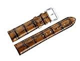 Unique Luxe Spécial 22mm Hommes Vintage Bracelets Montres Antique Bronze Cuir Marron Alligator Grain