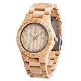 Uwood main Montre en bois Fonction calendrier Pour Hommes Avec bois d'érable