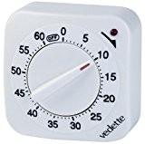Vedette - VM10001 - Minuteur à quartz Mixte - Quartz Analogique - Blanc - 60 minutes