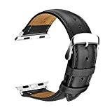 Watch Bracelet, SOWTECH 42mm Montre Bracelet en Cuir Veritable Remplacement Bande en Mode Boucle avec Fermoir en Métal Ajustable pour ...
