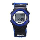 WobL Watch - Bleu- montre de rappel 8 alarmes de vibration, aident à contrôler la transition du pot aux toilettes