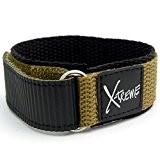 X-Treme résistant Montre Sangle Velcro bande hommes de 20mm pour homme–Kaki