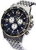 Xezo pour homme Air Commando Swiss-quartz chronographe plongeur montre pour D45-bu