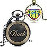 XIGEYA Nouvelle arrivée Bronze le plus grand papa cadran rond Quartz montre de poche pendentif FOB chaîne hommes haute qualité ...