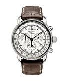 Zeppelin - 7680-1 - Montre Homme - Quartz Analogique - Alarme / Chronomètre - Bracelet Cuir Marron